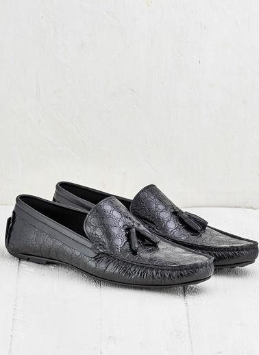 Elle %100 Deri Loafer Ayakkabı Siyah